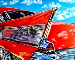 1957 Chevy Bel-Air painting 30x24 gallery wrapped canvas