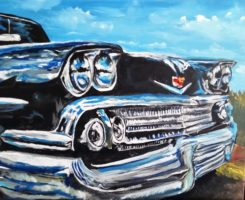 The Beast Lives - painting of 1959 Chevy Impala 16x20